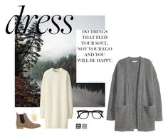 """""""If not now, when ?"""" by sosofo ❤ liked on Polyvore featuring Uniqlo, Barneys New York, Gorjana, Kofta, Winter, dress and contestentry"""