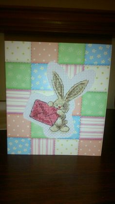 Card with easter bunny.