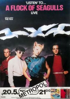 A Flock Of Seagulls Concert Poster https://www.facebook.com/FromTheWaybackMachine/