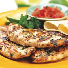 Herbed Grilled Chicken Breasts - FineCooking