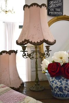 finally, a classy boudoir lamp & Shade! Decor, Shabby Chic Lighting, Lamp, Shabby, Beautiful Lamp, Home Decor, Romantic Shabby Chic, Shabby Chic Furniture, Vintage Lamps