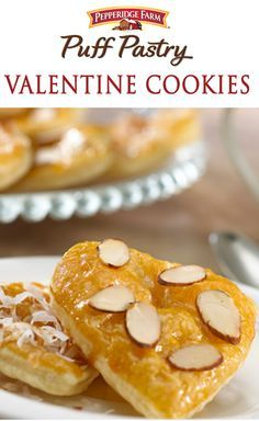 Pepperidge Farm Puff Pastry Valentine Cookies. Heart-shaped Puff Pastry cookies are so easy to make...and this recipe has three different topping ideas...choose the one you like the best, or make all three varieties.