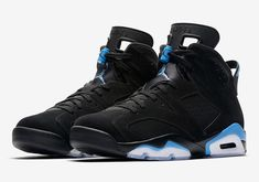 Michael Jordan's first NBA championship shoe dresses in the colors of his first championship team. The Air Jordan 6 UNC releases in December. For a look at official images, tap the link in our bio. Latest Sneakers, Sneakers Fashion, Sneakers Nike, Blue Sneakers, Popular Sneakers, Summer Sneakers, Nike Shoes, Zapatos Air Jordan, Air Jordan Shoes