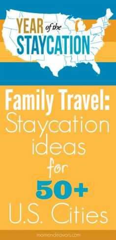 US City Vacation Ideas - an incredible list for family fun staycation/vacation ideas across the USA! Brought to you by Chevrolet Traverse Vacation Places, Vacation Destinations, Vacation Trips, Dream Vacations, Places To Travel, Vacation Ideas, Family Vacations, Travel Stuff, Disney Vacations