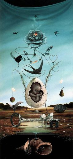 Surrealismo e arte visionaria: Hans Kanters / Art Bizarre, Weird Art, Art And Illustration, Portrait Illustration, Art Illustrations, Fashion Illustrations, Art Visionnaire, Dali Paintings, Jean Arp