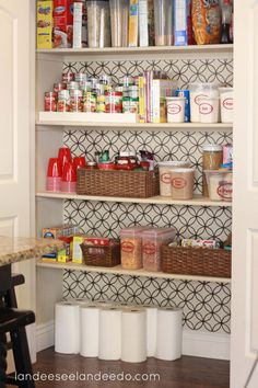 One of my favorite designs in vinyl on pantry wall or as a backsplash.