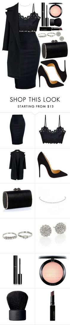 Untitled #4361 by natalyasidunova ❤ liked on Polyvore featuring For Love & Lemons, Jil Sander, Christian Louboutin, Jimmy Choo, Vintage, Kate Spade, Chanel, MAC Cosmetics, NARS Cosmetics and Witchery