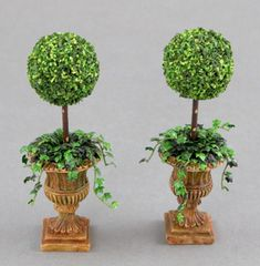 topiarys   Pair of ball topiaries with trailing ivy