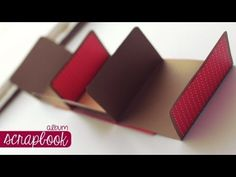 Cardstock Mini Album - fast to make, cute little gift! - YouTube