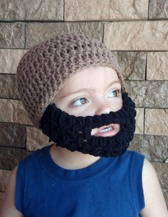 Brown Beard Hat w/ Detachable Beard choose your by HolyNoggins