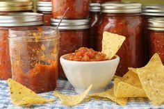 Spicy Canned Zucchini Salsa | Kitchen Frau