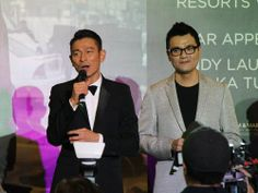 """ScreenSingapore 2013 red carpet world premiere of """"Firestorm"""" at Resorts World Theatre, Sentosa, Singapore on 4 December 2013. Andy Lau and Gordon Lam."""