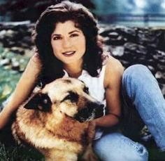 Amy Grant with her German Shepard