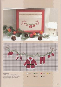 Sewing Stitches For Beginners Xmas Cross Stitch, Counted Cross Stitch Patterns, Cross Stitch Charts, Cross Stitch Designs, Cross Stitching, Cross Stitch Embroidery, Theme Noel, Crochet Cross, Christmas Embroidery