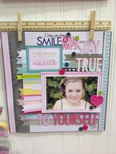 Layout: Brand New Washi Tape, Freestyle Sophisticates and Crochet Hearts from Bella Blvd