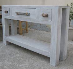 table console en carton terminée