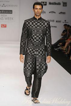 a stylish black #sherwani for #indianwedding