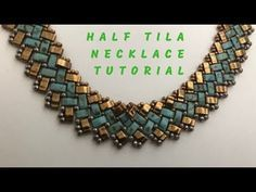 Half Tila Beaded Necklace - DIY tutorial Kelly from Off the Beaded Path, in Forest City, North Carolina shows how to make a beautiful ring that would go with an earring project from a couple of week. Necklace Tutorial, Diy Necklace, Necklace Ideas, Necklace Designs, Jewelry Making Tutorials, Beading Tutorials, Beaded Necklace Patterns, Beaded Necklaces, Handmade Necklaces