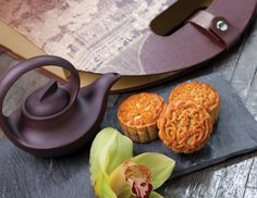 At @Mandy Dewey Seasons Hotel Singapore, spicy chili XO Sauce gives a modern kick to traditional Chinese moon cakes, which are filled with sweetened nuts and dried mandarin oranges. #FSTaste