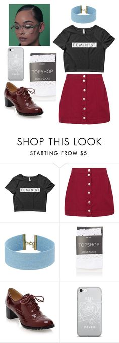"""""""Feminist 💜"""" by sapphire-stone ❤ liked on Polyvore featuring Boohoo, Steve Madden and Topshop"""