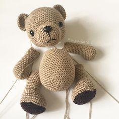 Working on baby bear  Pattern will be released next week. Have a lovely weekend!  . . . . . #crochet #crochetaddict #helloyellowyarn #crochetersofinstagram #amigurumi #crocheting #amigurumist #crocheteddy #amigurumiteddybear #crocheted #crochettoy #amigurumiteddy