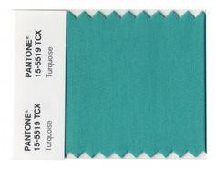 Pantone Turquoise.