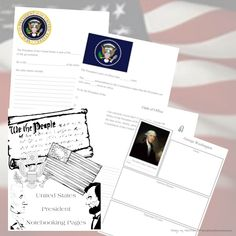 Free United States Presidents Notebooking Pages #homeschool #notebookingpages