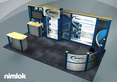 Nimlok specializes in designing trade show displays and financial exhibits. For MRS, we built a custom trade show booth to meet their marketing needs.