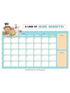 A monthly and weekly family planner. Kids Poster, Poster On, Free Activities For Kids, Family Planner, Information Age, Encouragement