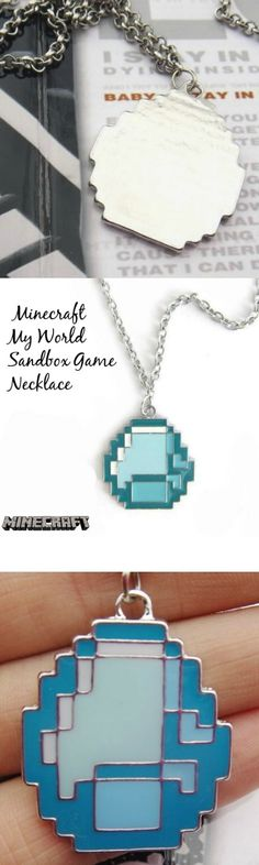 Minecraft My World Sandbox Game Necklace! Click The Image To Buy It Now or Tag Someone You Want To Buy This For.  #Minecraft
