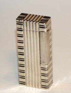1946 art deco modernist Van Cleef Arpels sterling silver petrol roller lighter