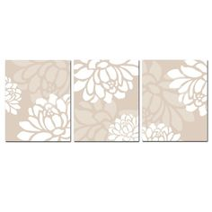Large Scale Floral Trio  Set of Three 8x10 Coordinating by Tessyla, $55.00