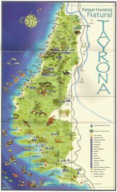 Map of Parque Tayrona