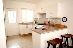 Vista de la cocina de la propiedad.