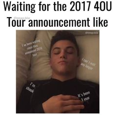 Literally me right now! I have so many notifications turned on so when they do announce a new I can meet them, to meet the guys that have changed my life in so many ways possible!  ~ILY G&E~ ❤️