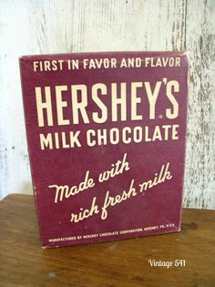 Vintage Hershey's Chocolate Box by vintage541 on Etsy