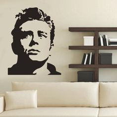 Vinyl Wall decal  James Dean  wall sticker 60 x 90 cm by Decor18, €8.99