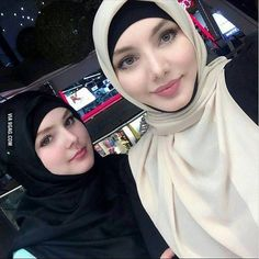 2 Muslim girls from chechnya