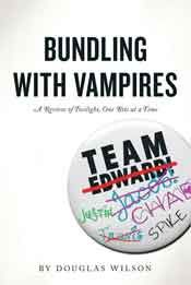 "Bundling With Vampires-- a chapter-by-chapter ebook review of the NYT-bestselling book by Stephanie Meyer. Besides delving into all the amusing aesthetic dreck, these reviews demonstrate how Twilight equips and motivates girls to get themselves deep into abusive relationships. The ebook also includes Wilson's Huffington Post article ""50 Shades of Prey,"" which explains why it's no accident that the ""mommy-porn"" S&M bestseller 50 Shades of Grey began as Twilight fan-fiction."