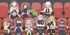 Credit to artist, who pinned this, and Sanemi! I love the art and this is so funny! I love the pillars! ---------------- Did you know the demon slayer movie comes out on Halloween 🎃? Otaku Anime, Manga Anime, Anime Art, Slayer Meme, Demon Slayer, Anime Angel, Anime Demon, Naruto Vs Sasuke, Doujinshi