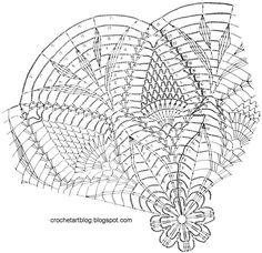 Crochet Art: Crochet Doily Free Pattern - Pineapple Crochet