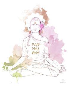 Flor de Loto (Padmasana): En la Postura de la Flor de Loto o Padmasana podemos sentir apertura en las caderas y en la cara interna y externa de las piernas... Leer más: http://indomityoga.com/coleccion-happy-hippie-yoga/flor-de-loto-padmasana/