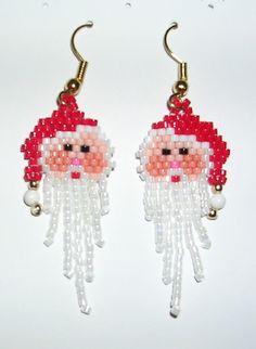 Santa Earrings  Fringe Beard by shamlynn on Etsy, $10.00