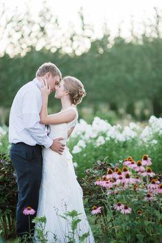 Bride and groom portrait // Green villa barn and garden wedding // Independence, Oregon wedding // country barn wedding // lavender country wedding // Jacob and Rebecca Photo By Imago Dei Photography