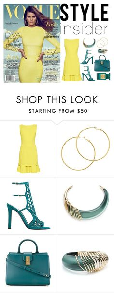 """""""HOT COLOR COMBINATION SPRING 2017"""" by suzettestokes ❤ liked on Polyvore featuring Oscar de la Renta, Melissa Odabash, Tamara Mellon, Alexis Bittar, Marc Jacobs and Tom Ford"""