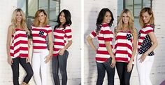 Festive 4th of July Tops! 3 Styles!