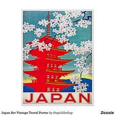 Japan Art Vintage Travel Poster