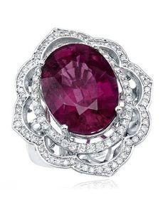 Product Name Ladies Diamond Ring Designed In 18K White Gold at Modnique.com