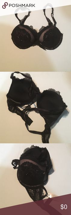 Victoria secret bra 32c NWT Brand-new Victoria's Secret bra from the luxuries collection with black lace and black stones on cups and straps a bra with little ball details in the front and on straps. Very expensive and if interested then lowest price is 98$. Looking for reasonable offers or trades Victoria's Secret Intimates & Sleepwear Bras