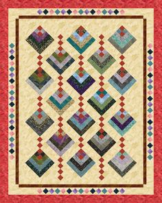 Hanging Gardens designed by Cozy Quilt Designs. Features the Akiko collection, shipping to stores October 2015.  Roll- up friendly!